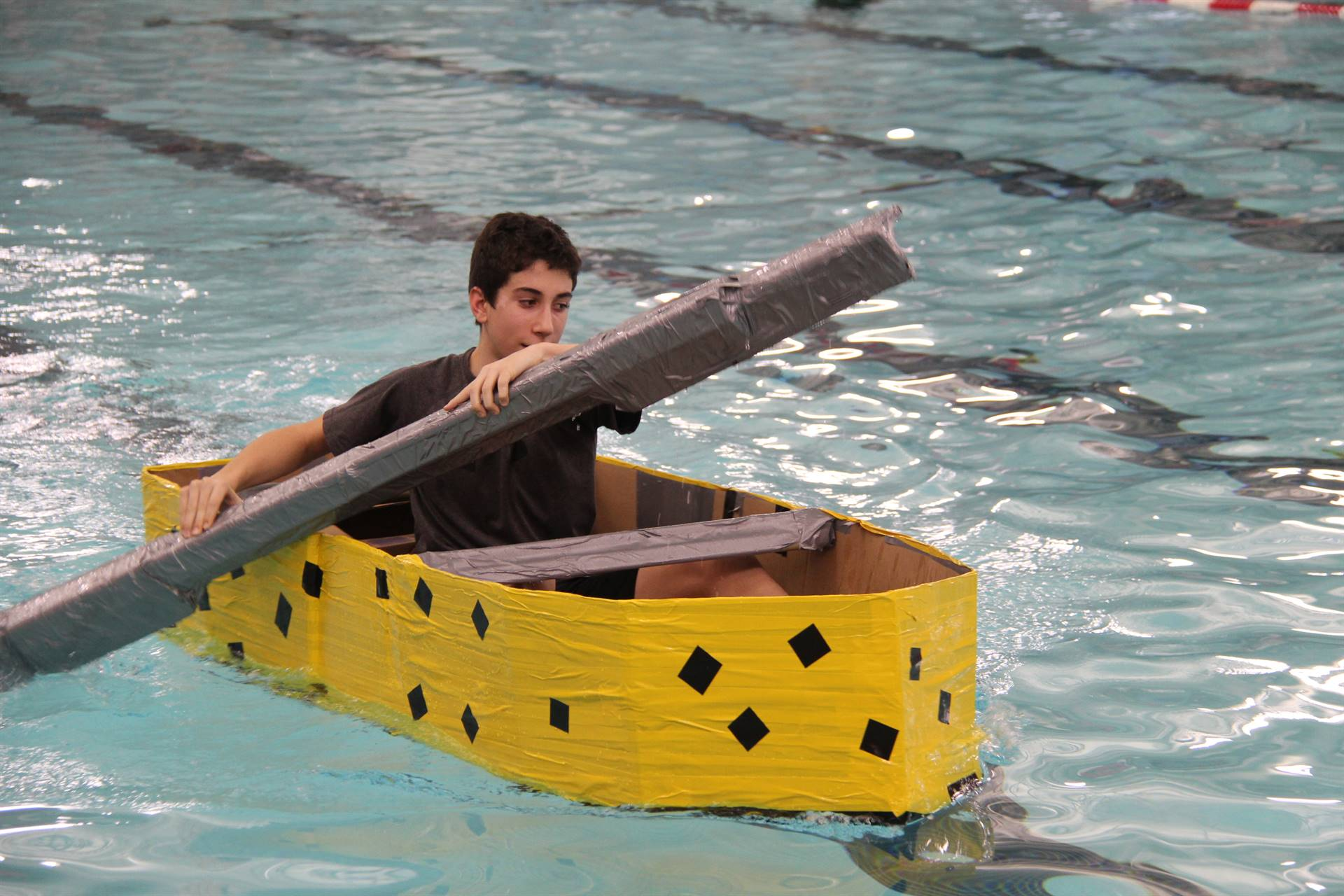 Middle School Cardboard Boat Races 65