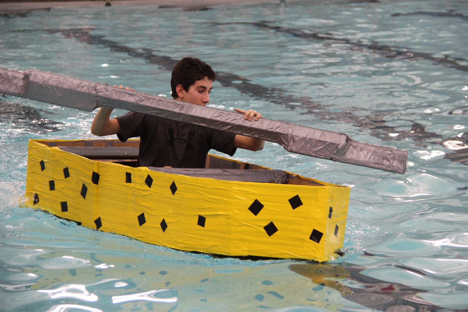 Middle School Cardboard Boat Races 64
