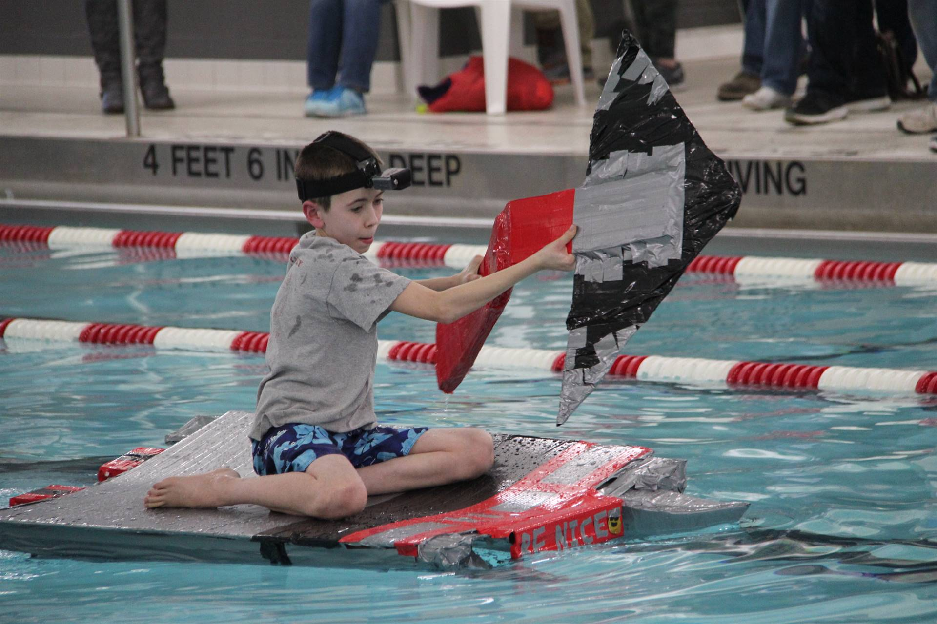 Middle School Cardboard Boat Races 63