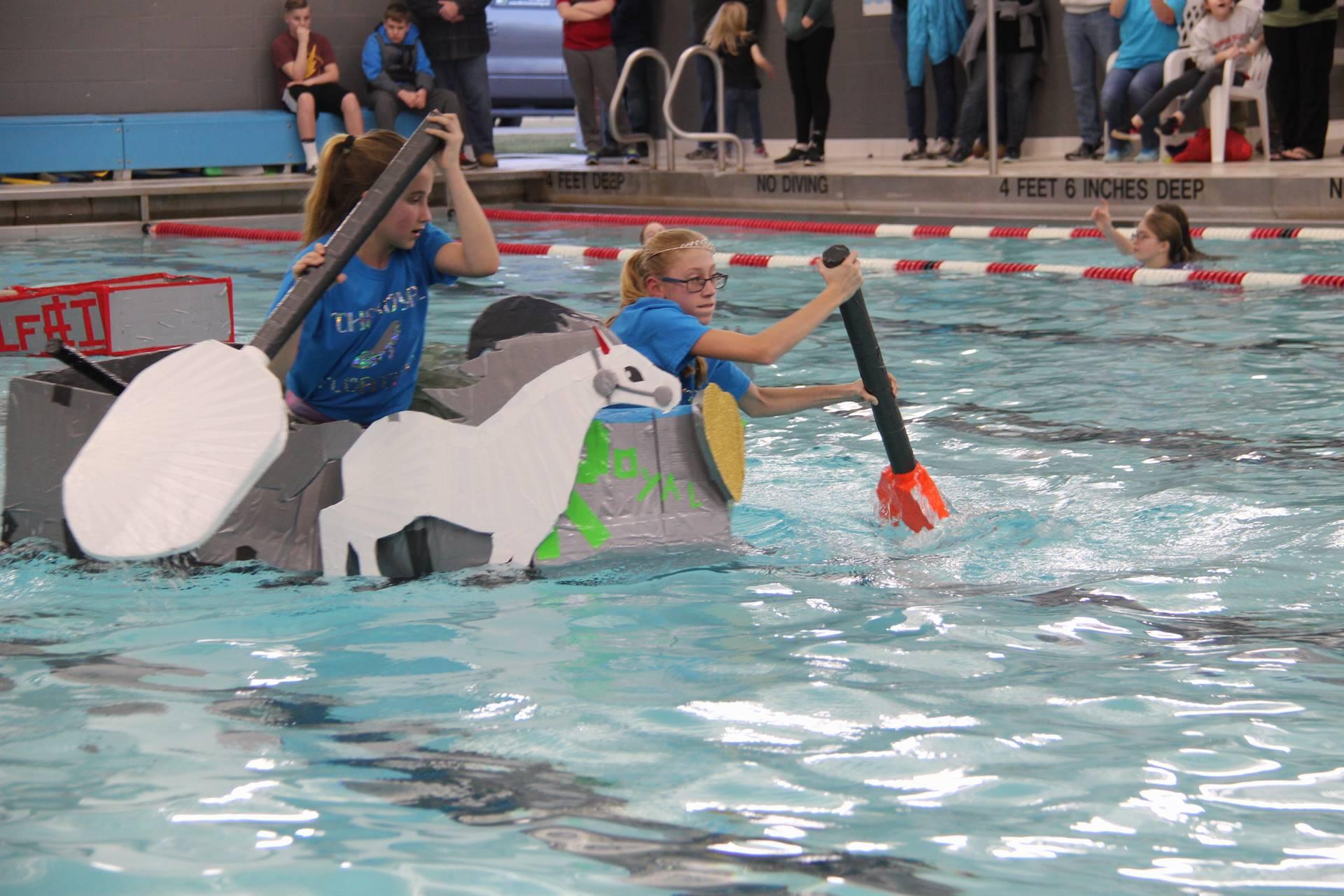 Middle School Cardboard Boat Races 57