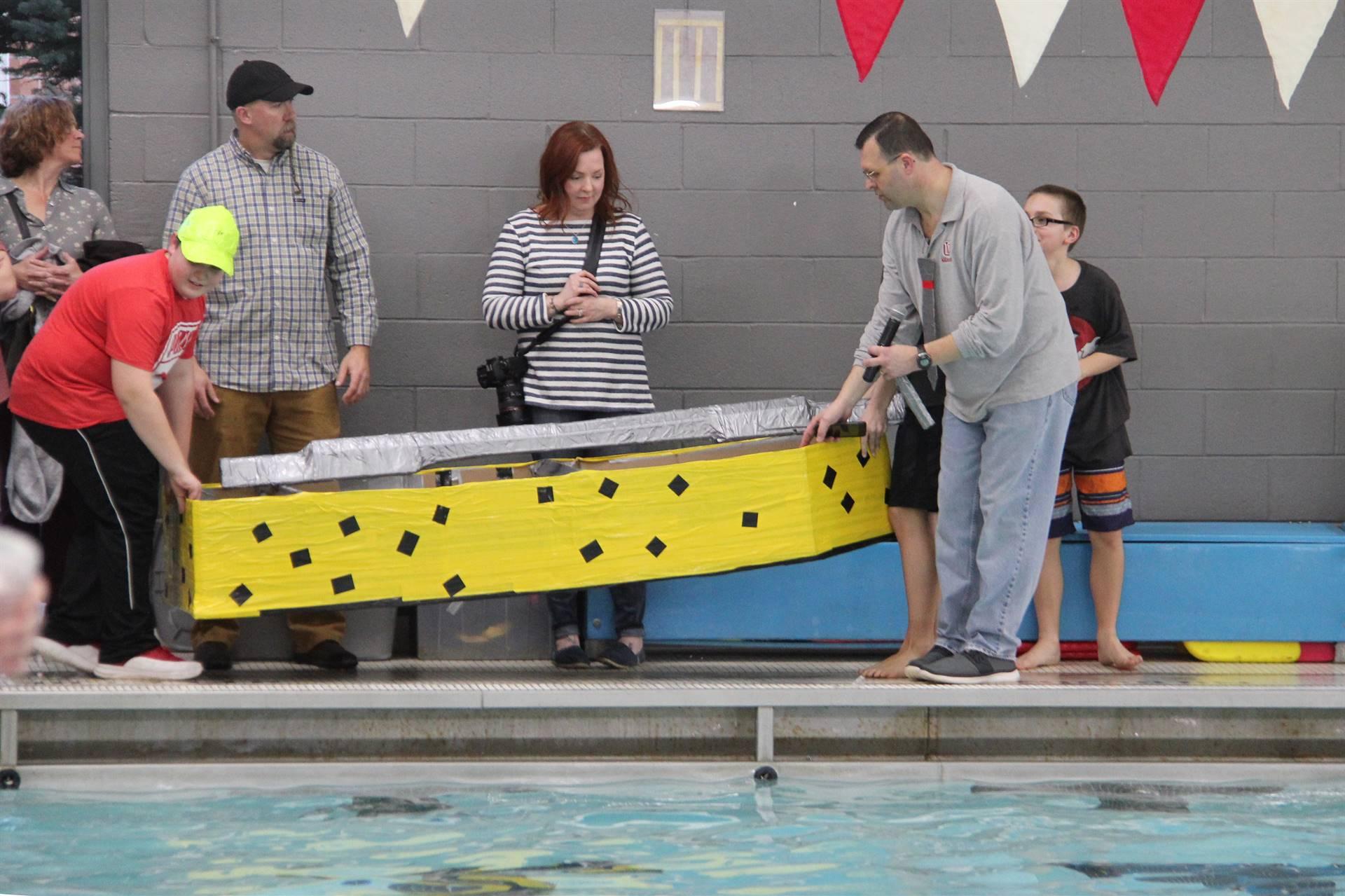 Middle School Cardboard Boat Races 59