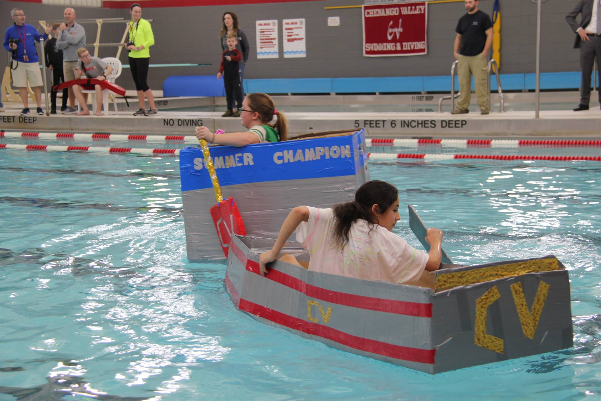 Middle School Cardboard Boat Races 47