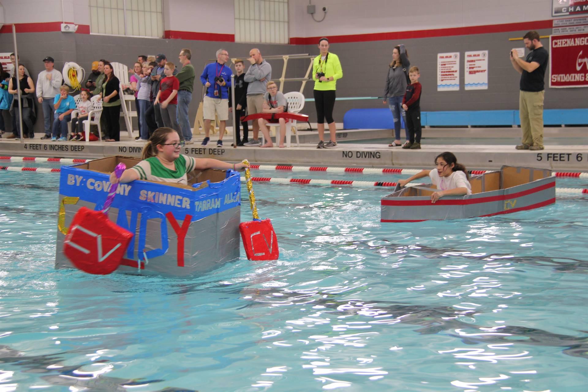 Middle School Cardboard Boat Races 46