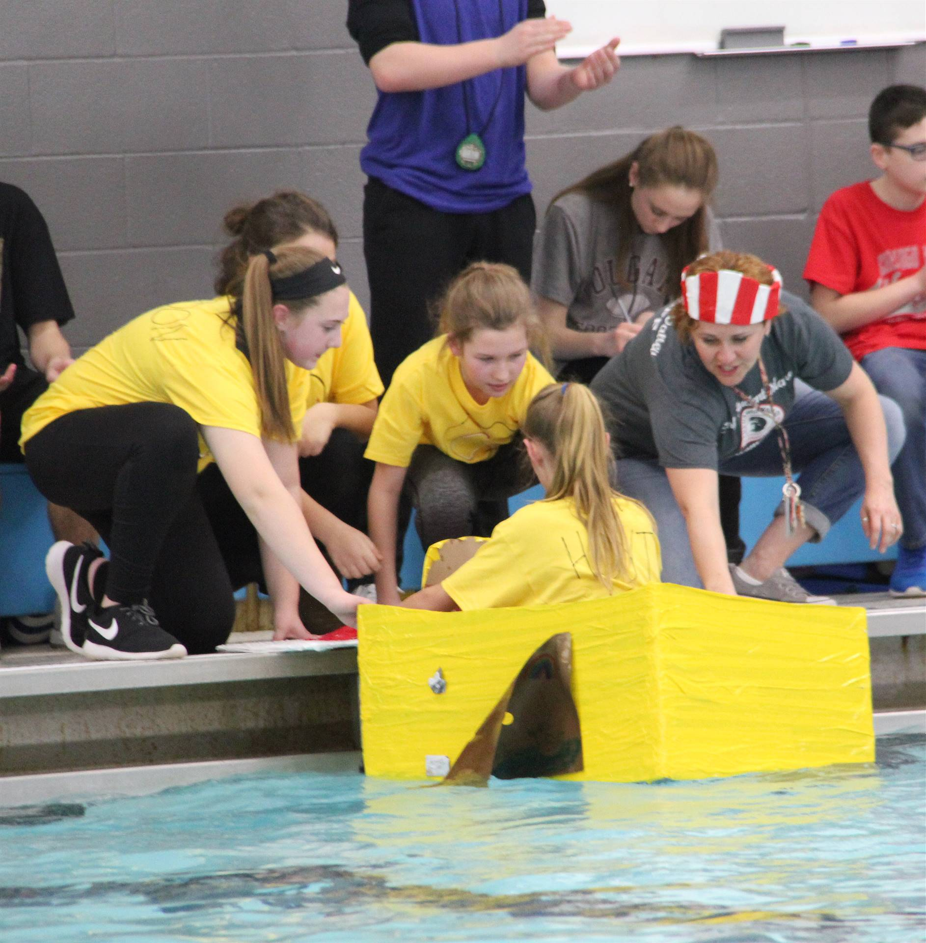 Middle School Cardboard Boat Races 45