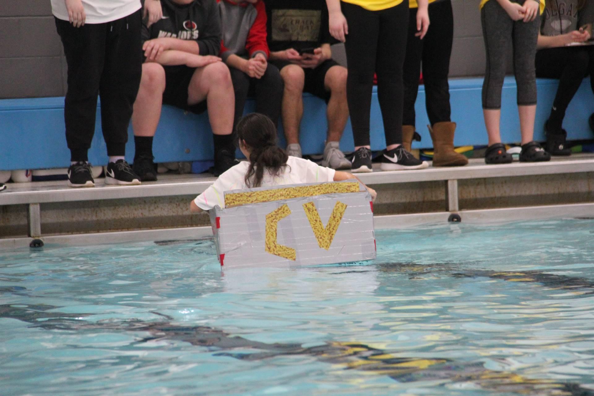 Middle School Cardboard Boat Races 44