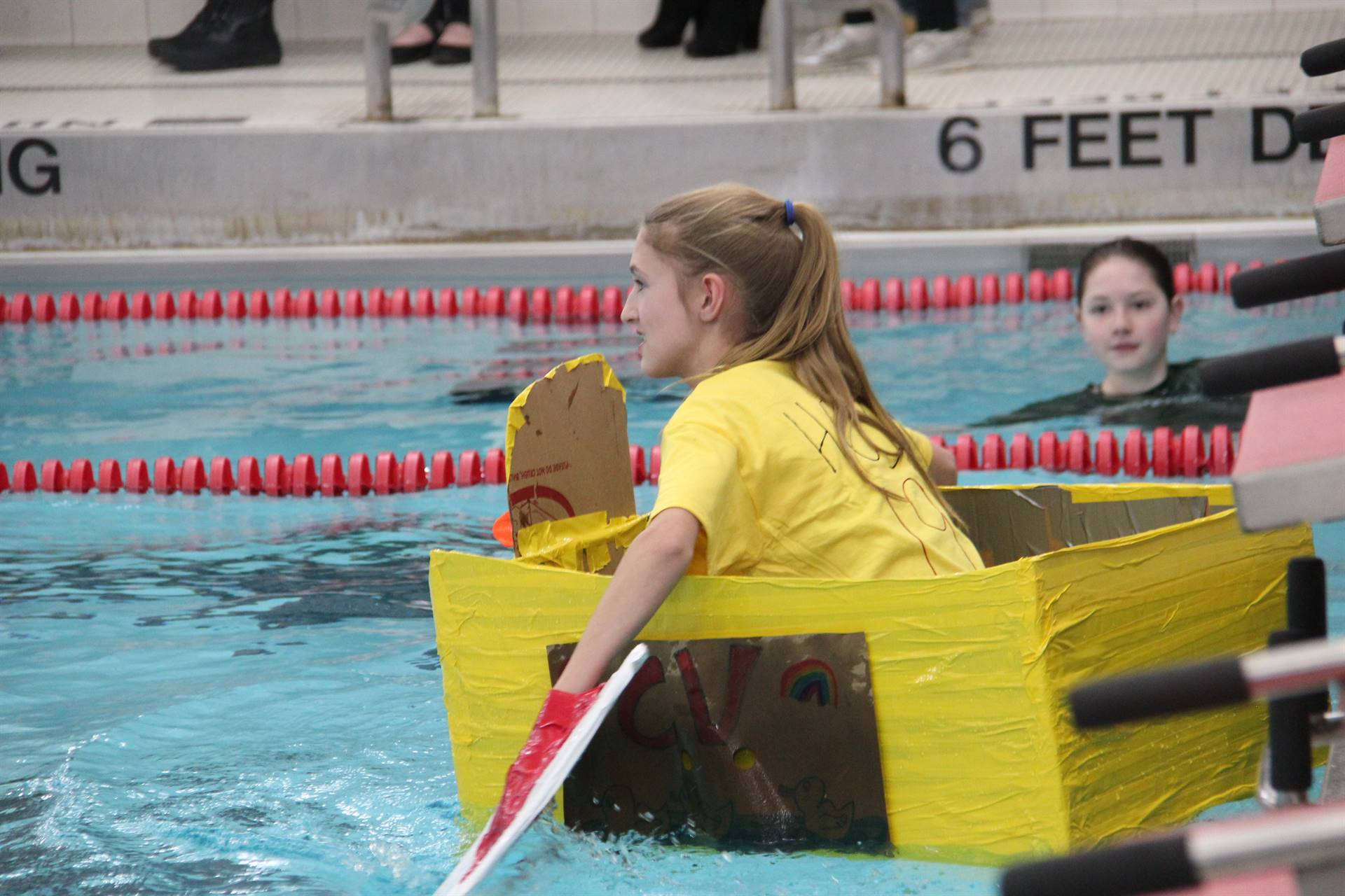Middle School Cardboard Boat Races 43