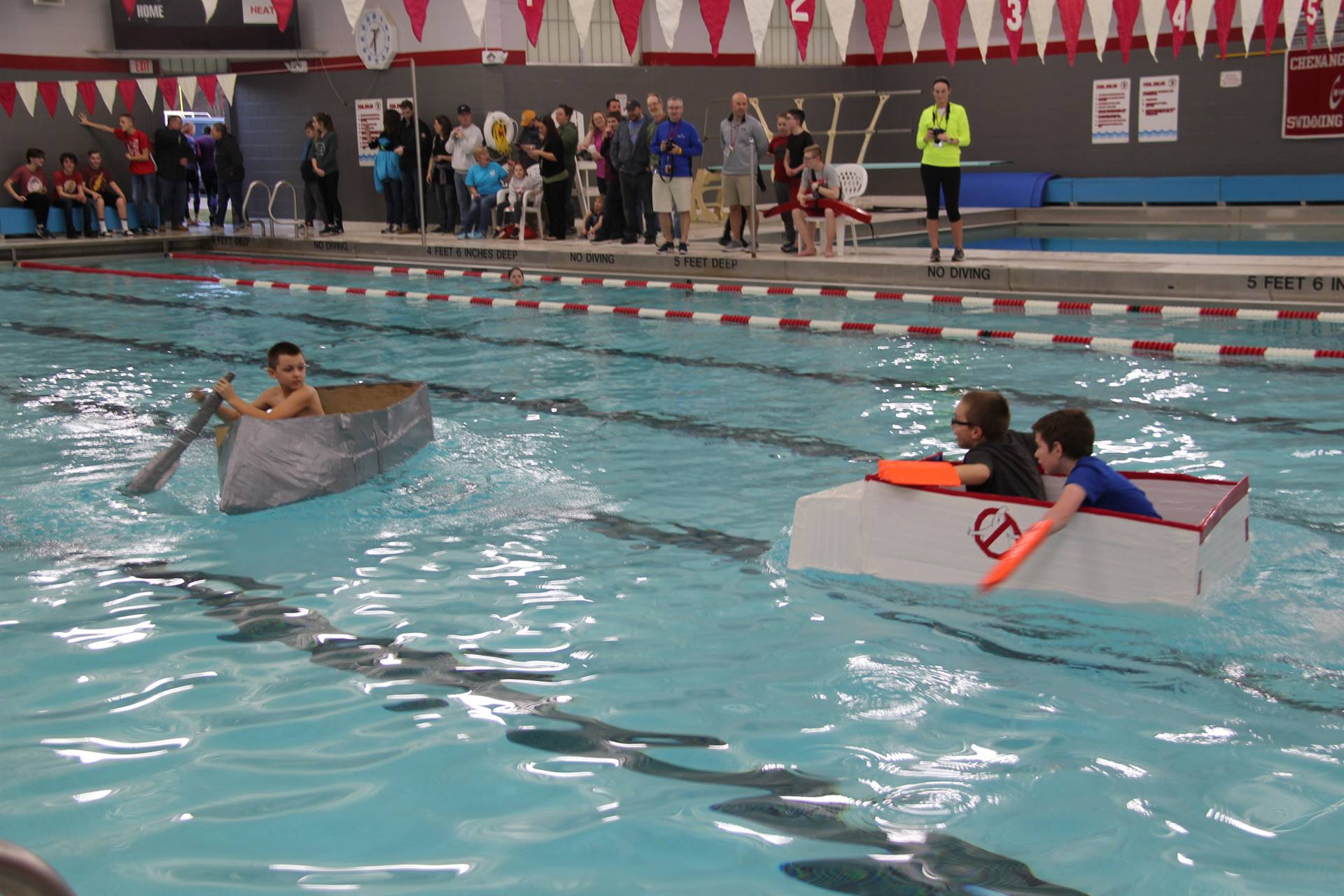 Middle School Cardboard Boat Races 41