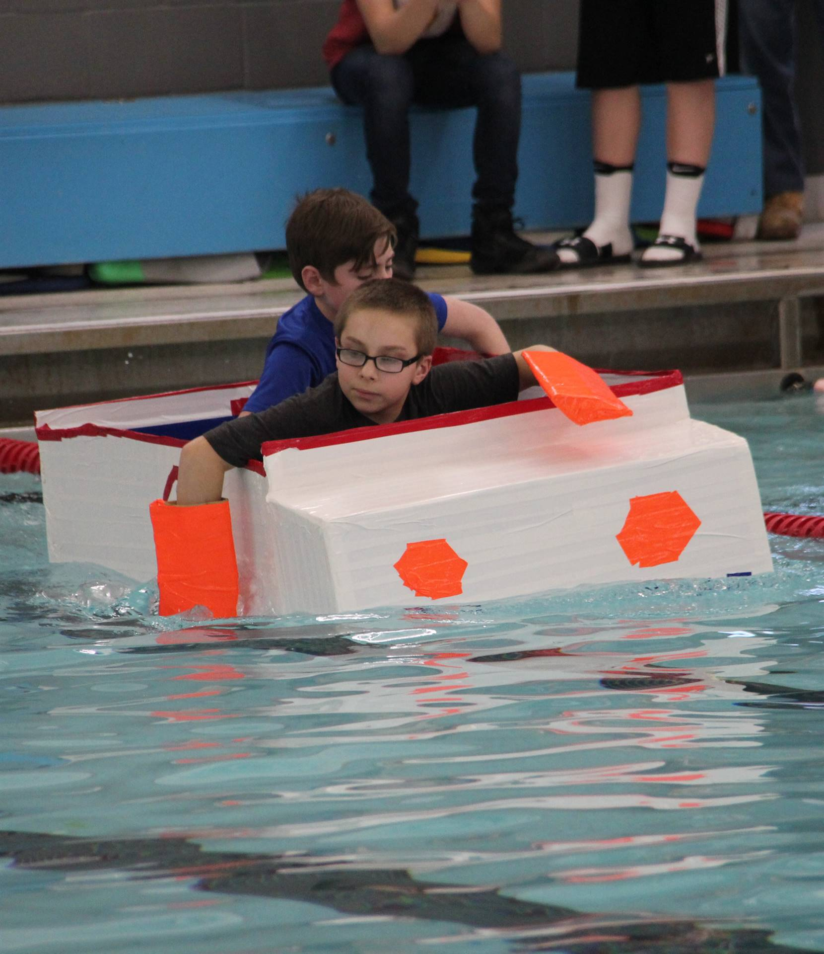 Middle School Cardboard Boat Races 40