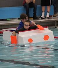 Middle School Cardboard Boat Races 40