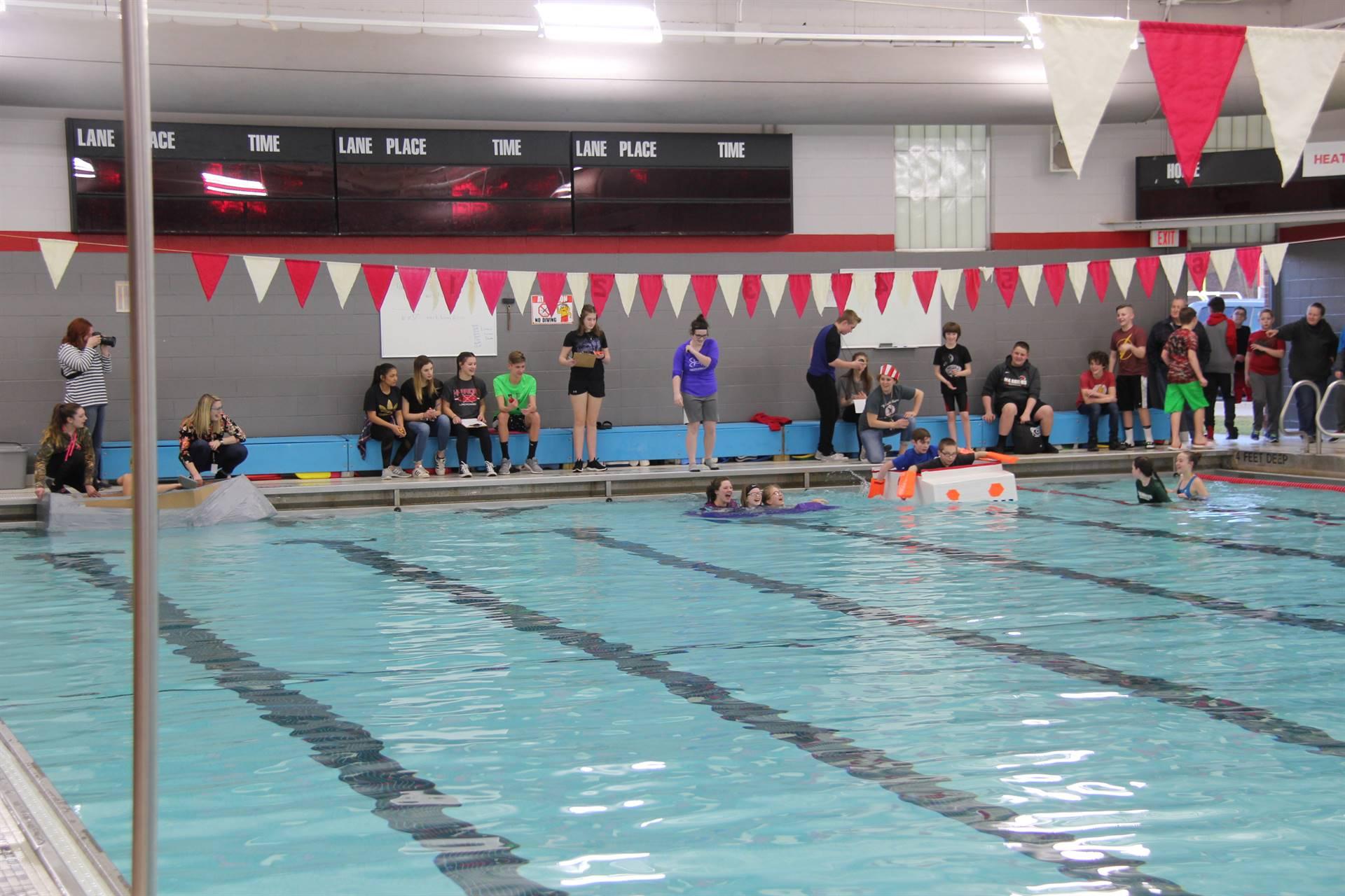 Middle School Cardboard Boat Races 39