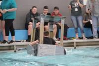Middle School Cardboard Boat Races 37