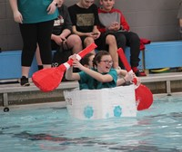 Middle School Cardboard Boat Races 30