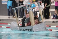 Middle School Cardboard Boat Races 29
