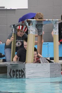 Middle School Cardboard Boat Races 26