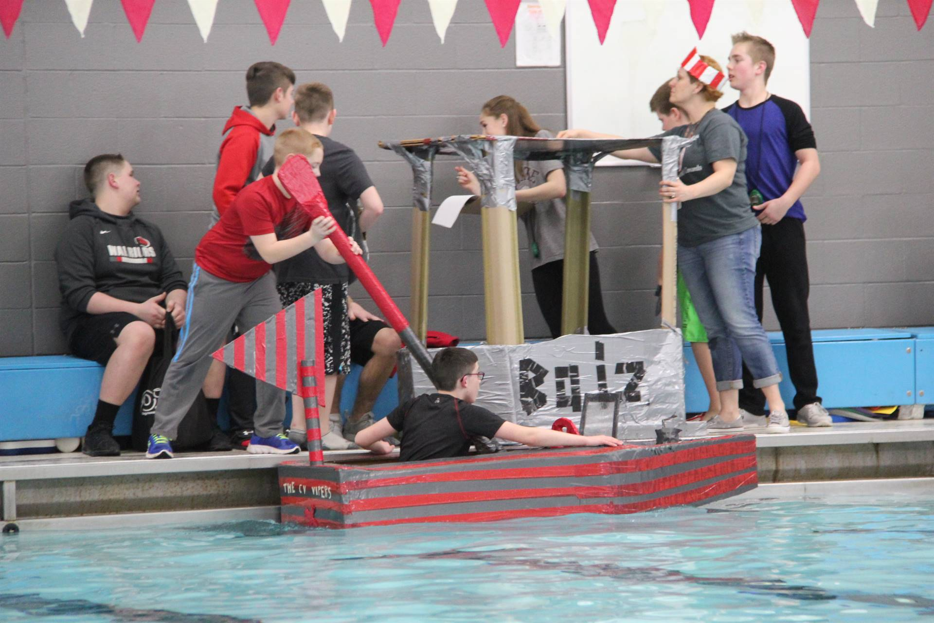 Middle School Cardboard Boat Races 25