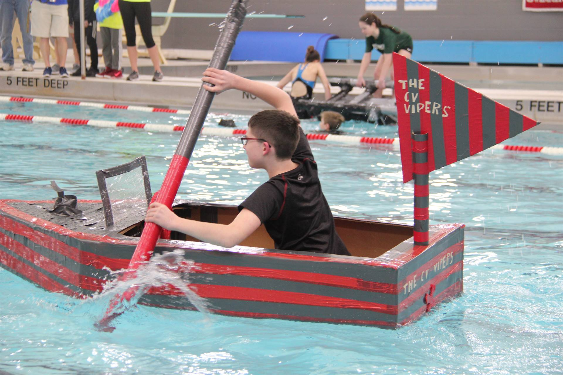 Middle School Cardboard Boat Races 24