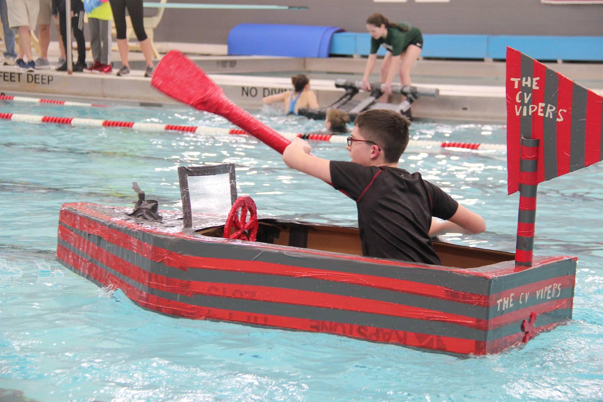 Middle School Cardboard Boat Races 23