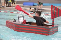 Middle School Cardboard Boat Races 23