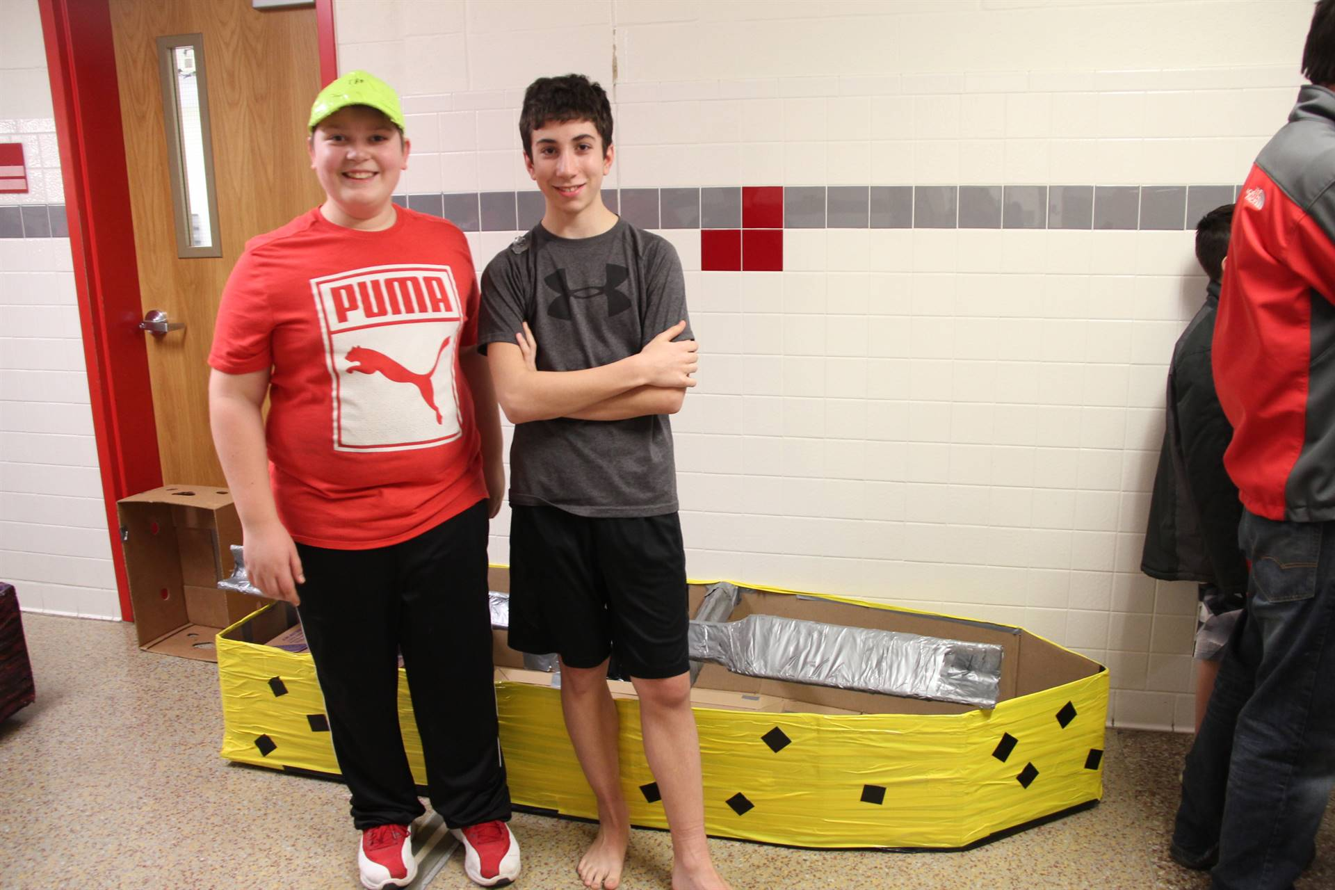 Middle School Cardboard Boat Races 1