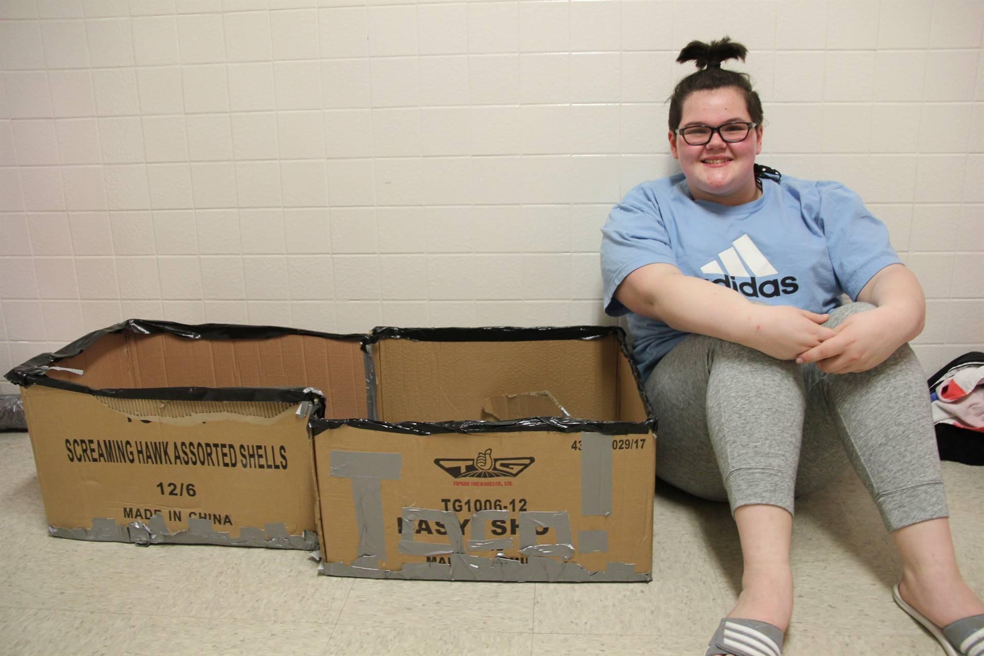 Middle School Cardboard Boat Races 17