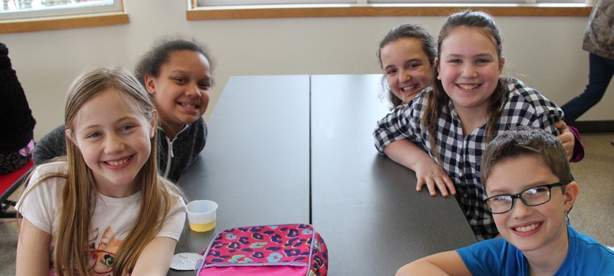 students sitting at cafeteria