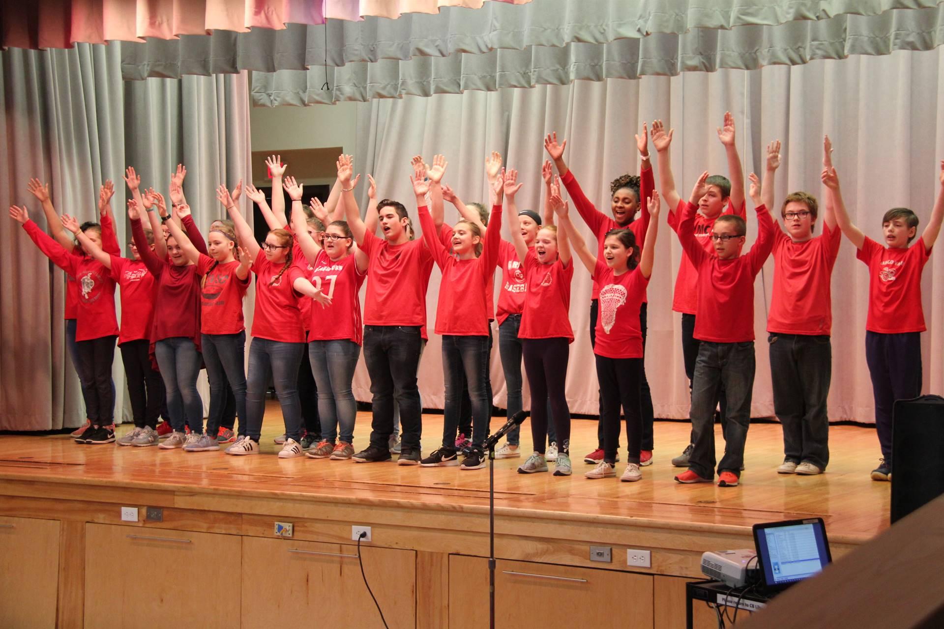 sneak preview performance at chenango bridge elementary 12