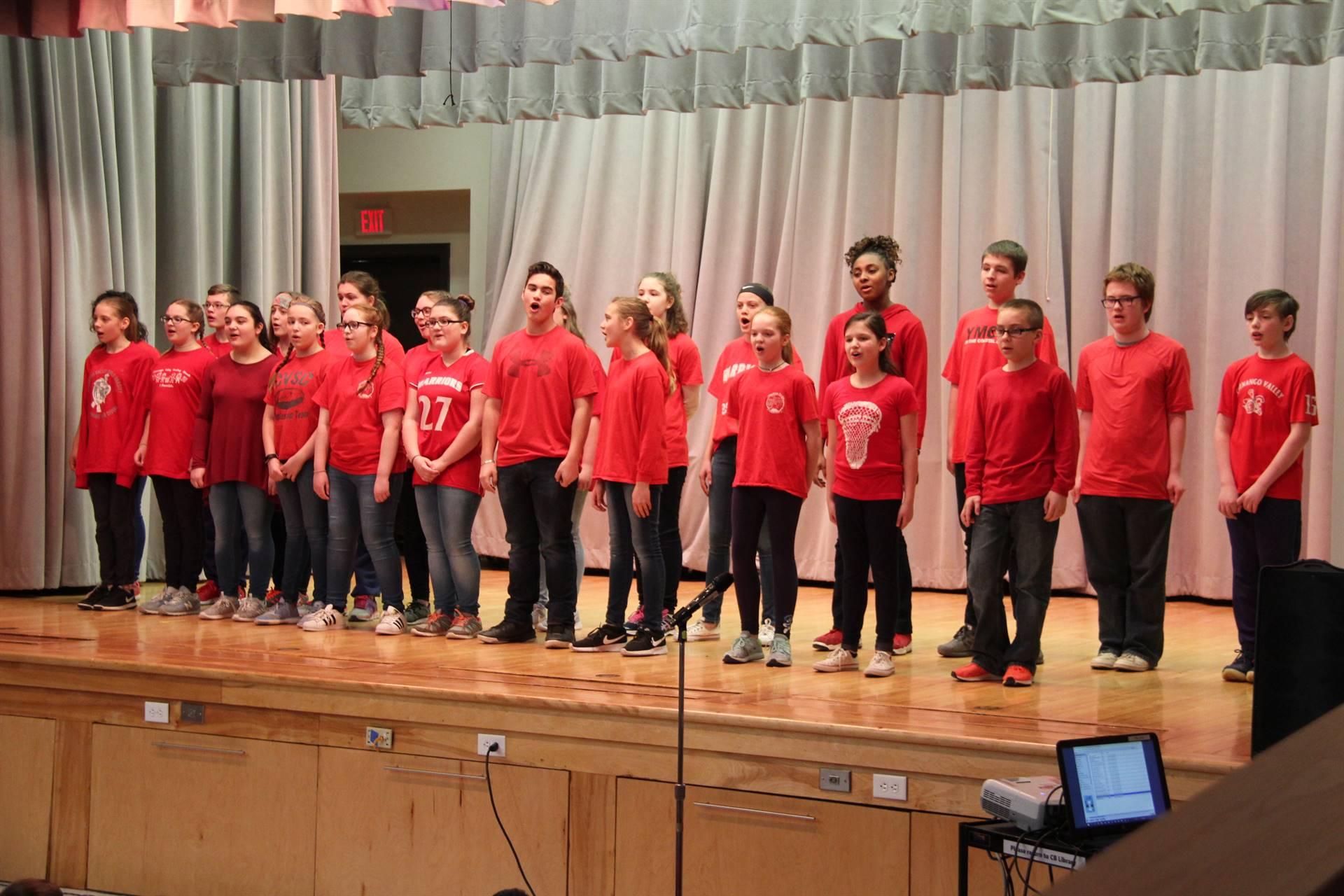 sneak preview performance at chenango bridge elementary 10