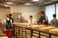 students learning about book records