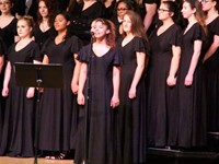 student singing solo