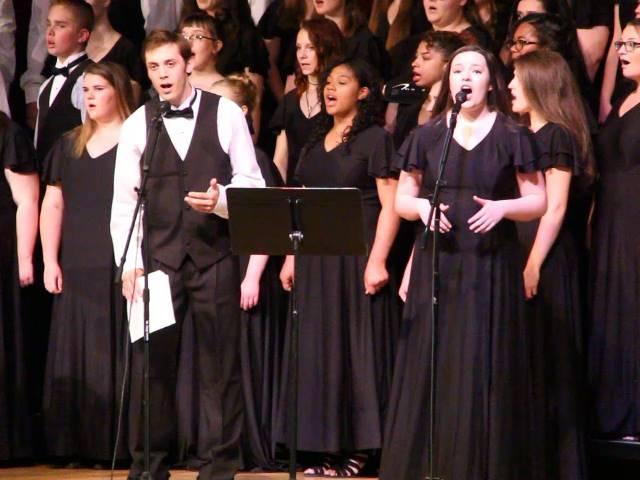 students singing duet