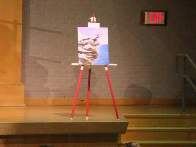 another painting on stage
