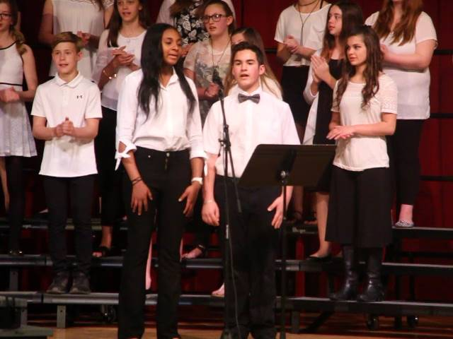 students singing duet