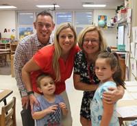family with teacher