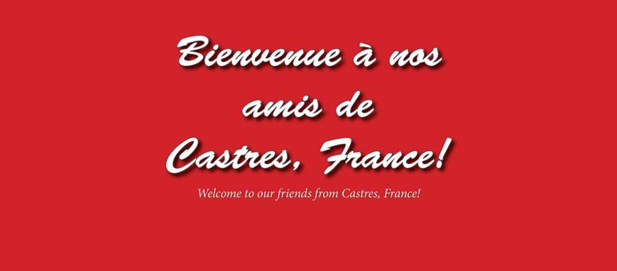 Welcome to our friends from Castres, France!