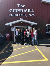 Chenango Valley French Exchange students at Cider Mill