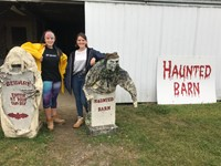 Chenango Valley French Exchange students at haunted barn