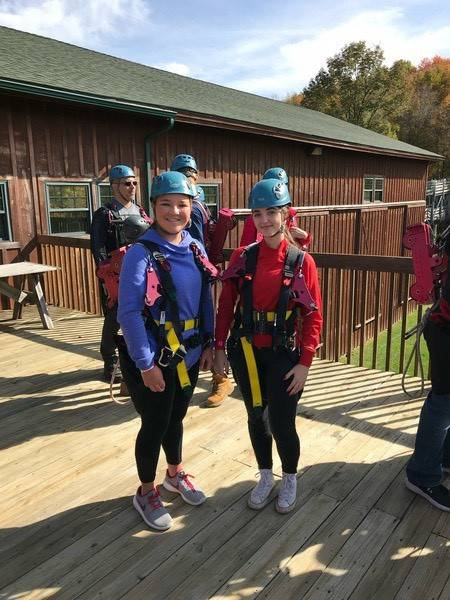 Chenango Valley French Exchange students outdoors