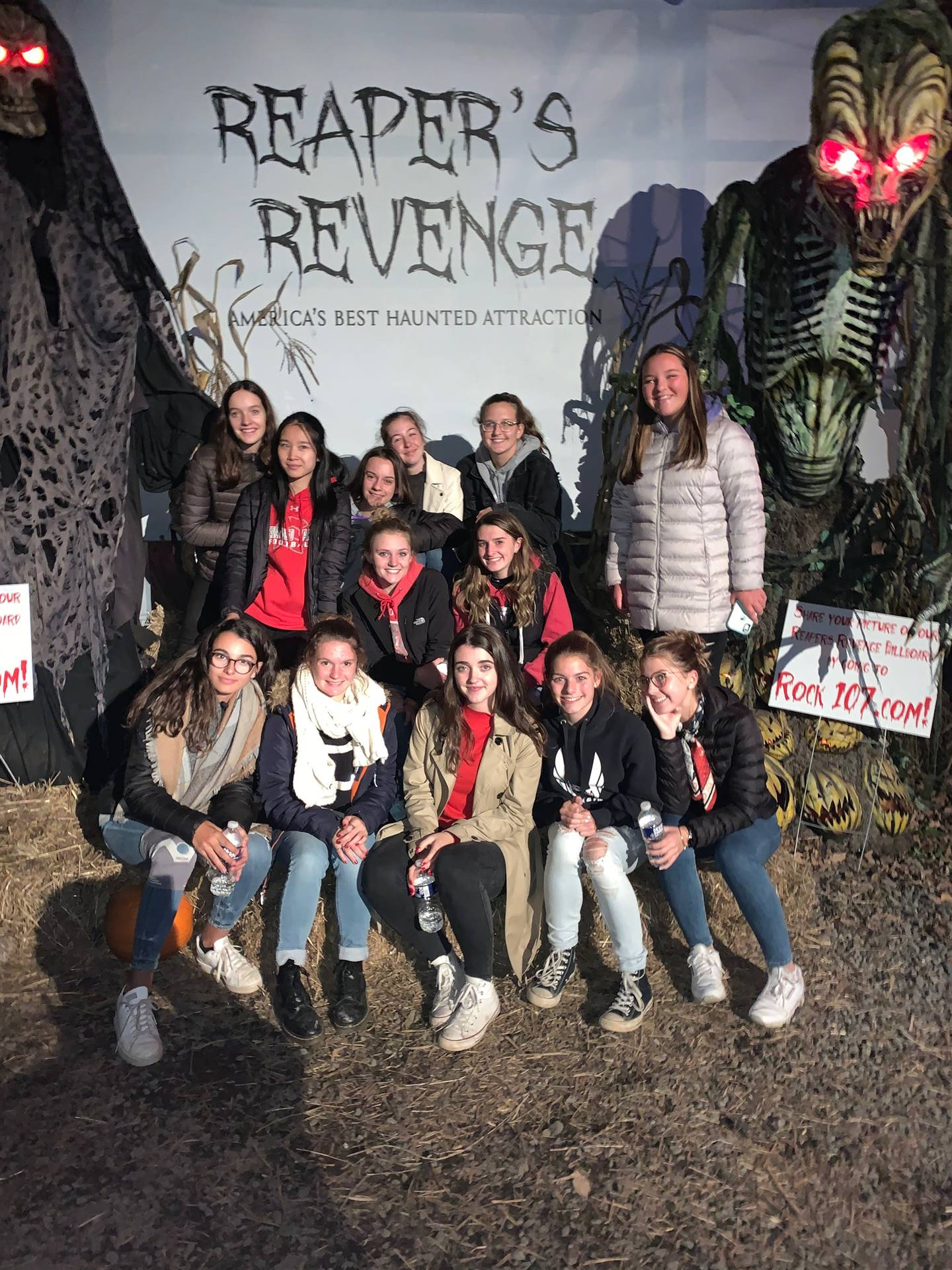 Chenango Valley French Exchange students at reapers revenge