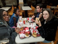 Chenango Valley French Exchange students at wendys