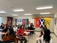 french students in chenango valley classroom