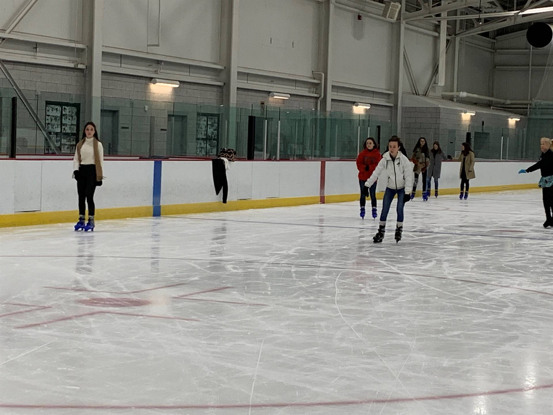 more students ice skating