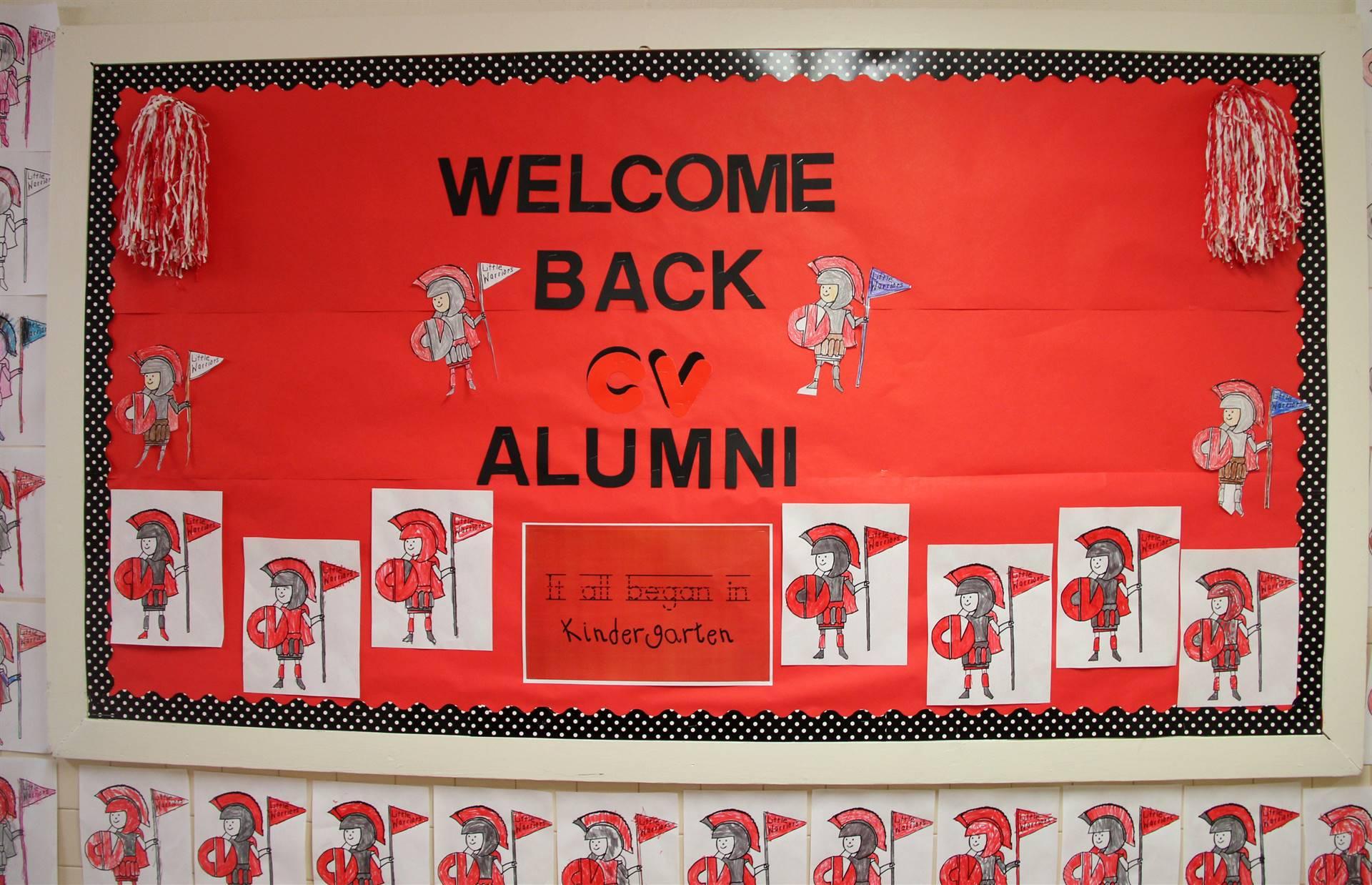 welcome back c v alumni poster