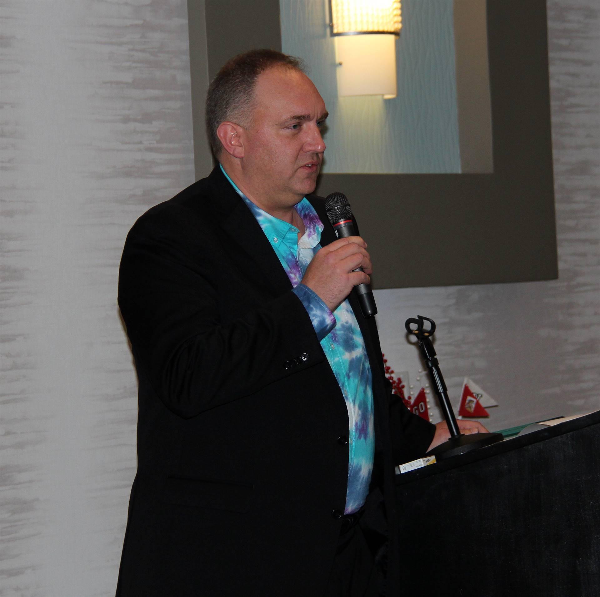 adam cornell giving speech
