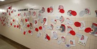 wall of warriors at port dickinson elementary