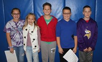 five chenango bridge students that asked honorees questions