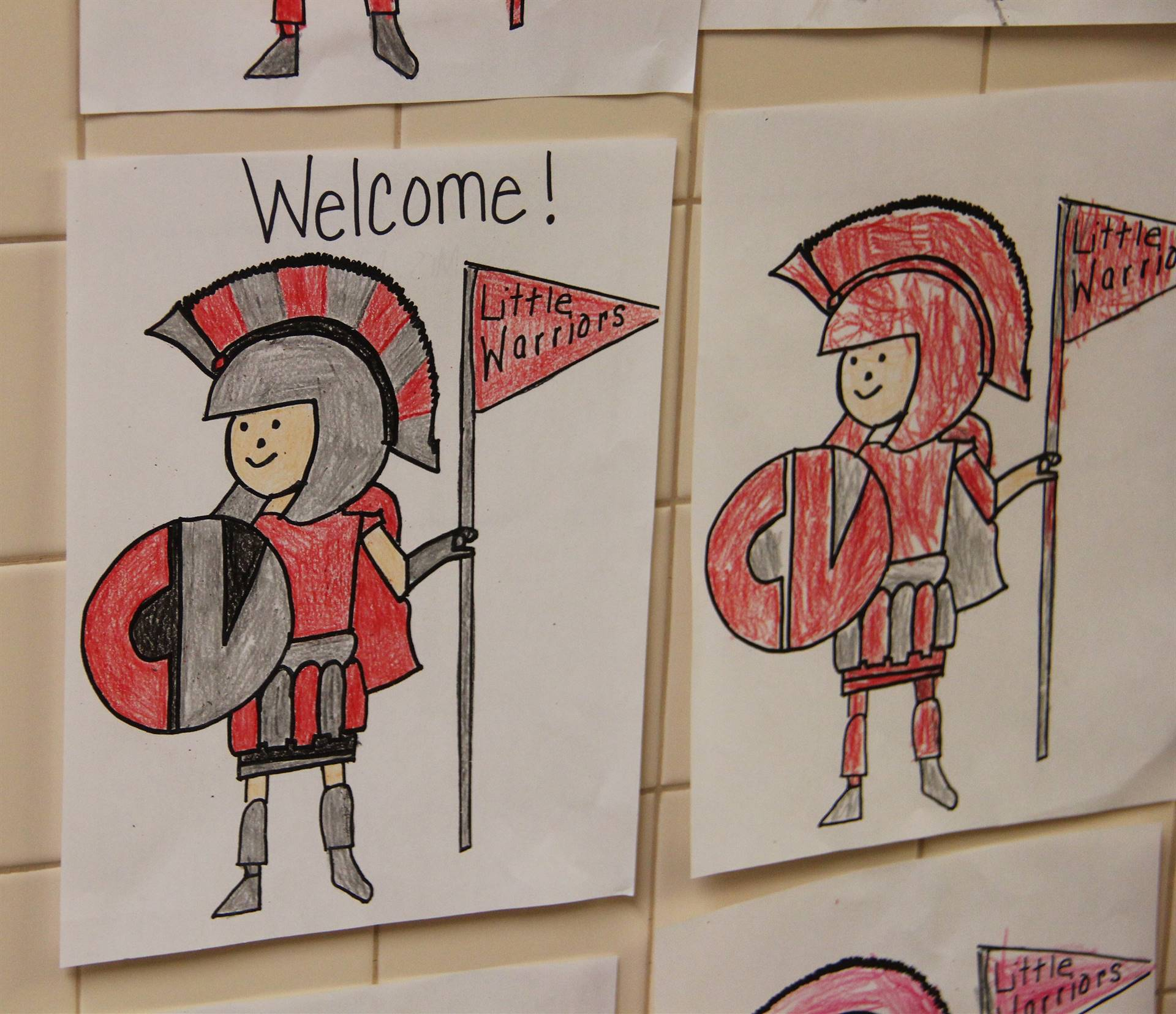 little warrior welcome illustrations
