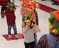 students at pre k halloween parade