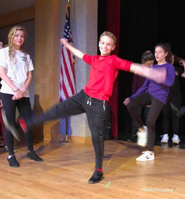 students dancing at musical practice