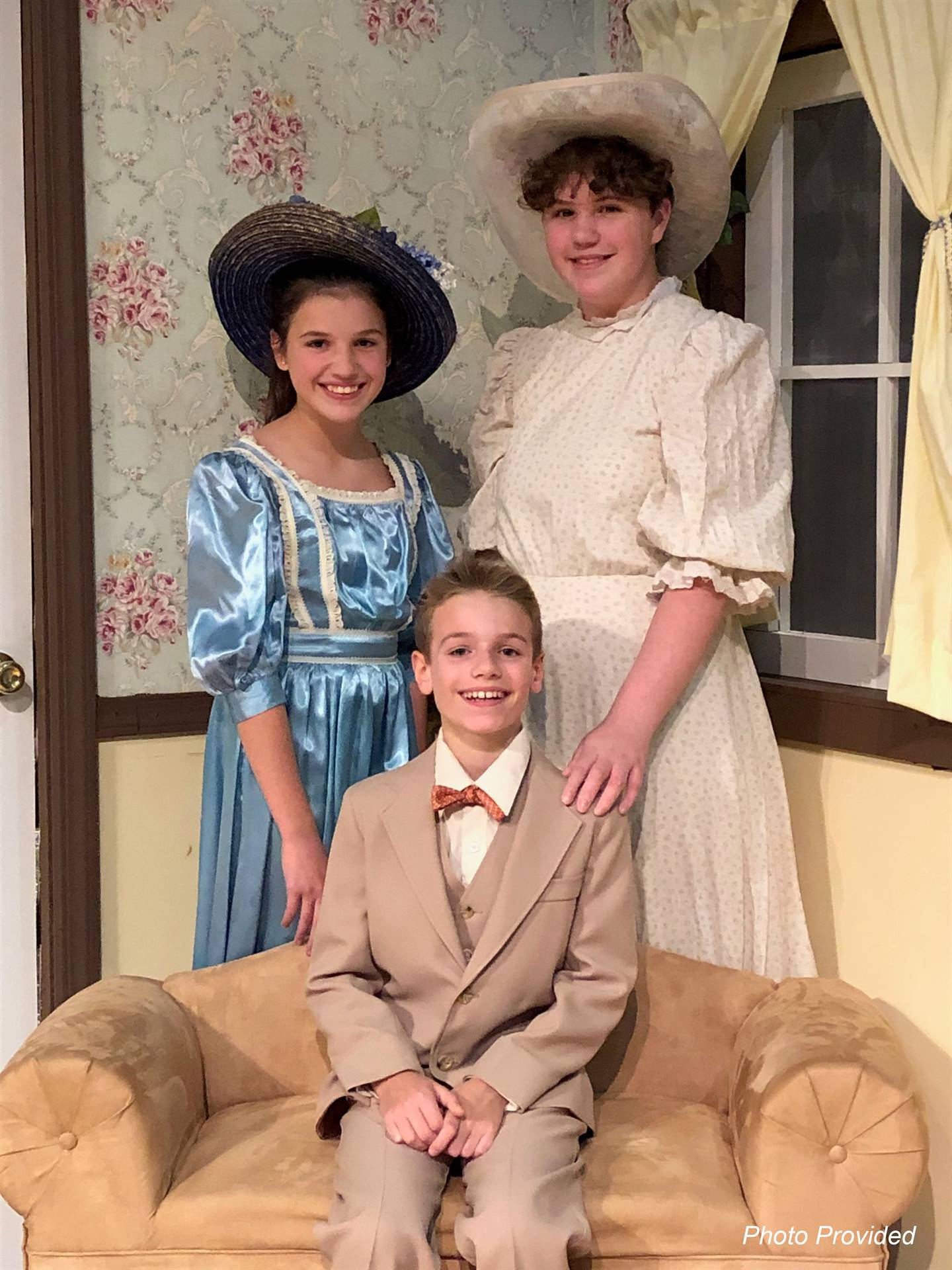 students dressed in character at musical practice
