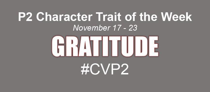 Trait of the Week - Gratitude